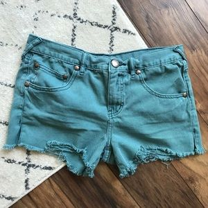 Free people denim cut off colored shorts